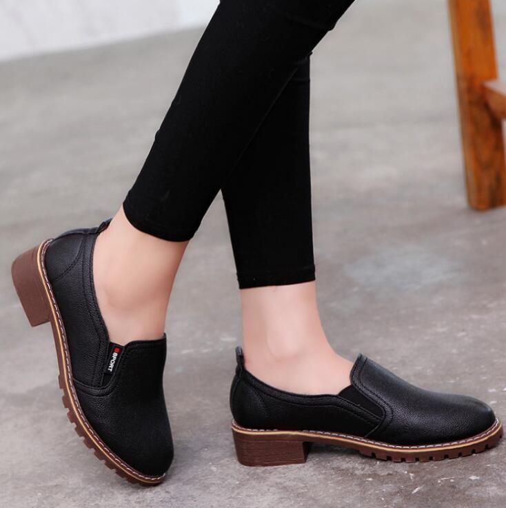 Женские туфли-оксфорды effgt, тонкие туфли на плоской подошве с закругленным носком, из мягкой кожи, на весну-осень 2018