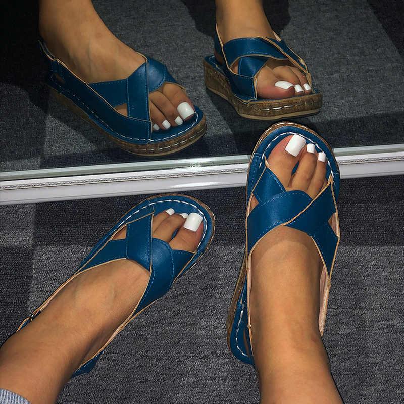 MCCKLE Frauen Sandalen Sommer Weibliche Schuhe frauen Peep Toe Keil Frau Komfortable Plus Größe Weibliche Plattform Damen 2020 Neue