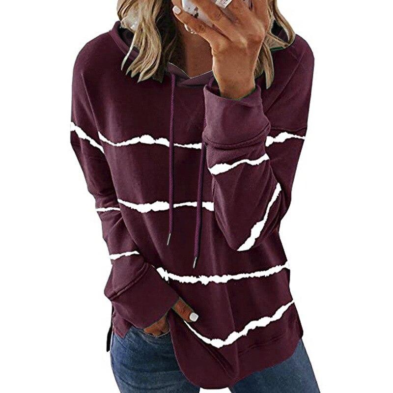 Oversize Women Tie Dye Drawstring Hooded Sweatshirt Autumn 2020 New Winter Long Sleeve Casual Loose Hoodies Tops Plus Size S-5XL 14