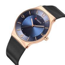 CURREN Ultra-Thin Qaurtz Watch Relogio Masculino 2019 New Collection Wristwatch Luxury Clock Sport Black Stainless Steel