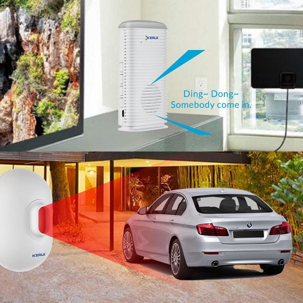 Wireless Infrared Vehicle Alarm System Home Security Driveway Garage Burglar Alarm Waterproof PIR Motion Detector Motion Sensor