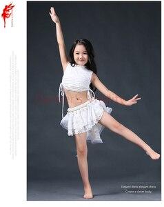Image 5 - Elegant Belly Danceเสื้อผ้า 2Pcs (Sleeveles Top + กระโปรง) ผู้หญิงหน้าท้องเด็กน่ารักBelly Danceเสื้อผ้า 3 สีS/L