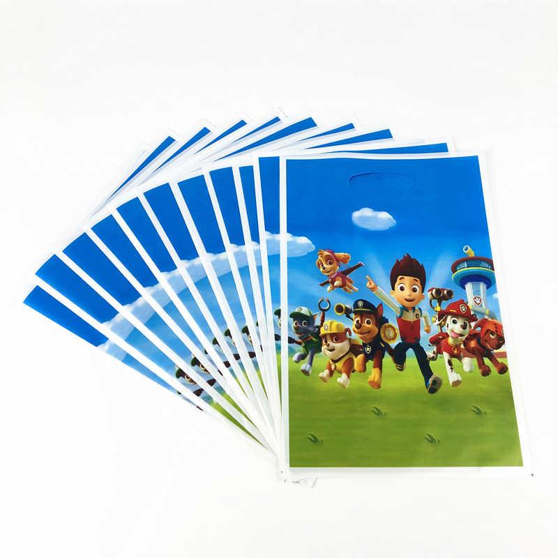 56 Uds. Cartoon Paw Patrol vajilla desechable niño fiesta de cumpleaños decoración Placa de papel + taza + servilleta + bolsas de regalo de dulces suministros