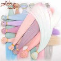 Muñeca Cataleya, bjd DIY, fibra de alta temperatura, 1 Uds. 15cm * 100cm y Peluca de 25*100cm, tejido de color de cabello poco a poco