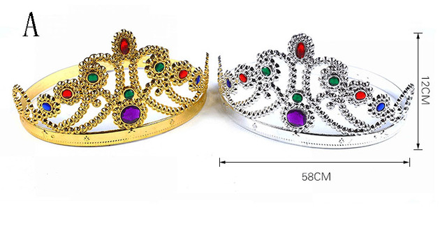 1Pcs party kids hat Toy accessory party set birthday kids emperor king crown party decoration prince princess queen crown cap