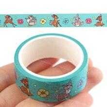 Bambi Cute Washi Tape Diy Decoration Disney Anime Thumper Scrapbooking Planner Masking Tape Label Stickers Stationery Kids Toys