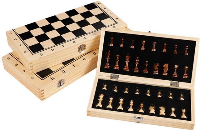 39CM grand tournoi magnétique Staunton jeu d'échecs en bois avec Chesspiece artisanal et fentes de rangement 2 reine supplémentaire 3
