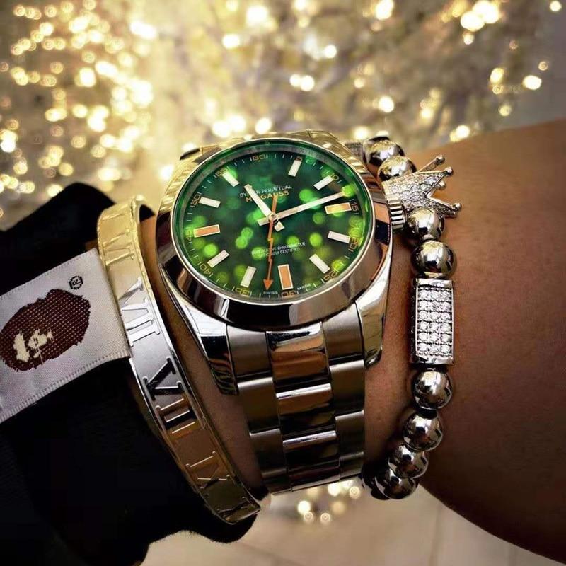 Luxury copper Crown Bracelet Stainless Steel Bangle femme Friends Bracelets For Women Men Jewelry Pulseras Mujer bracciali uomo