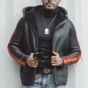 Image 3 - Luxury Reversible Genuine Sheepskin Jacket Men Casual Hooded Real Fur Coat Male Winter Loose Zipper Outerwear Plus Size 5XL