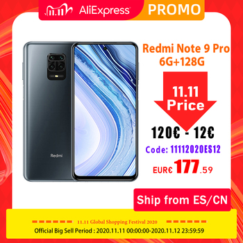 Global Version Xiaomi Redmi Note 9 Pro 6GB RAM 128GB Smartphone Snapdragon 720G Octa Core 64MP Quad Cameras 5020mAh NFC