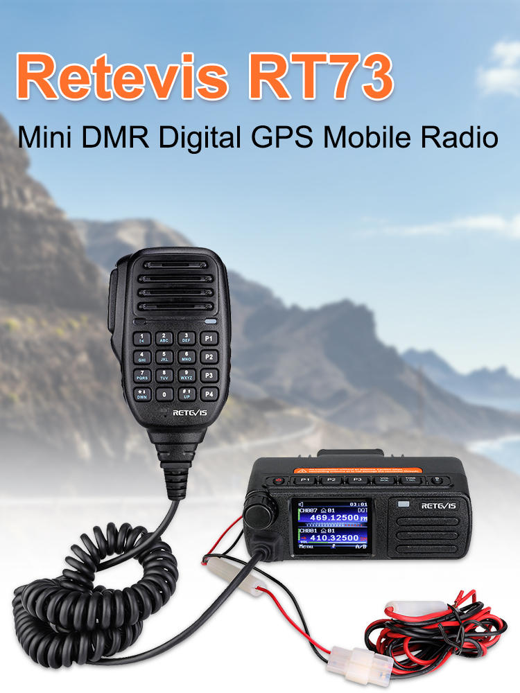 Pre-Sale DMR Digital Mobile Radio Retevis RT73 Mini Digital Car Radio Station GPS UV