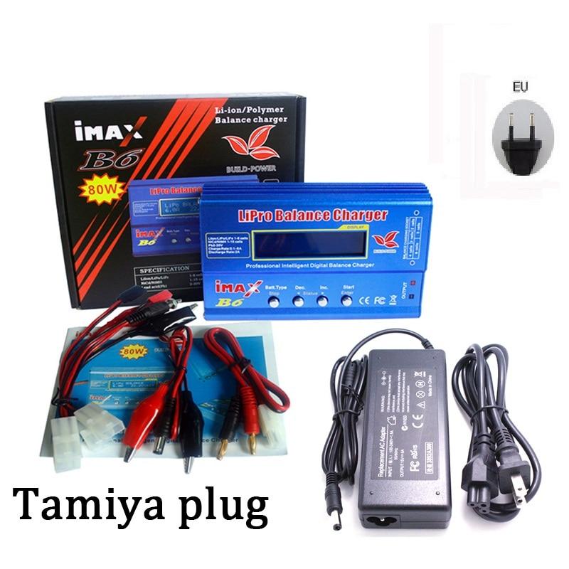 IMAX B6 80W With AC POWER 12v 5A Adapter RC +Tamiya T PLUG For Lipo NiMH NiCd Battery Balance Charger