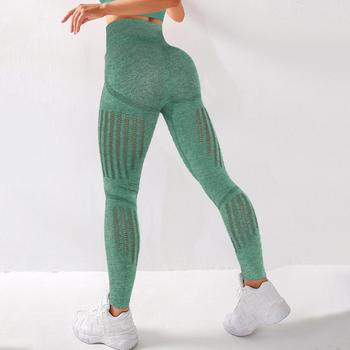 Hollow Out Leggings Women Gym Clothing Leggings For Fitness Workout Bubble Butt Push Up Breathable Hollow Mesh Women Leggings