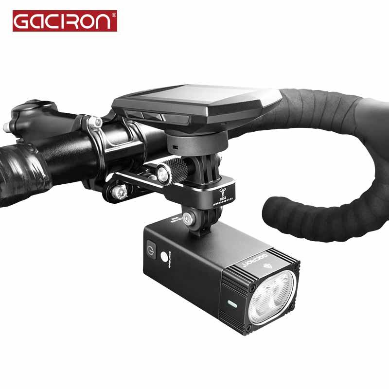 GACIRON H12 Bicycle light Mount Bracket Aluminum alloy Multifunction Camera\Bicycle computer Holder Adjustable Handlebar
