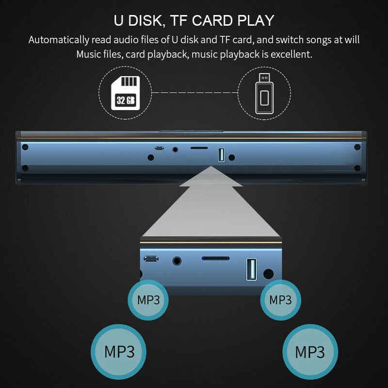20W Suara Bar Bluetooth Soundbar Kolom Dual Subwoofer Speaker Audio TV Home Theater Sistem Suara Surround Built-In 3D Stereo