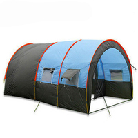 10persons large tunnel family tent camping tent 1Hall 2room outdoor travel party tent большая туннельная палатка