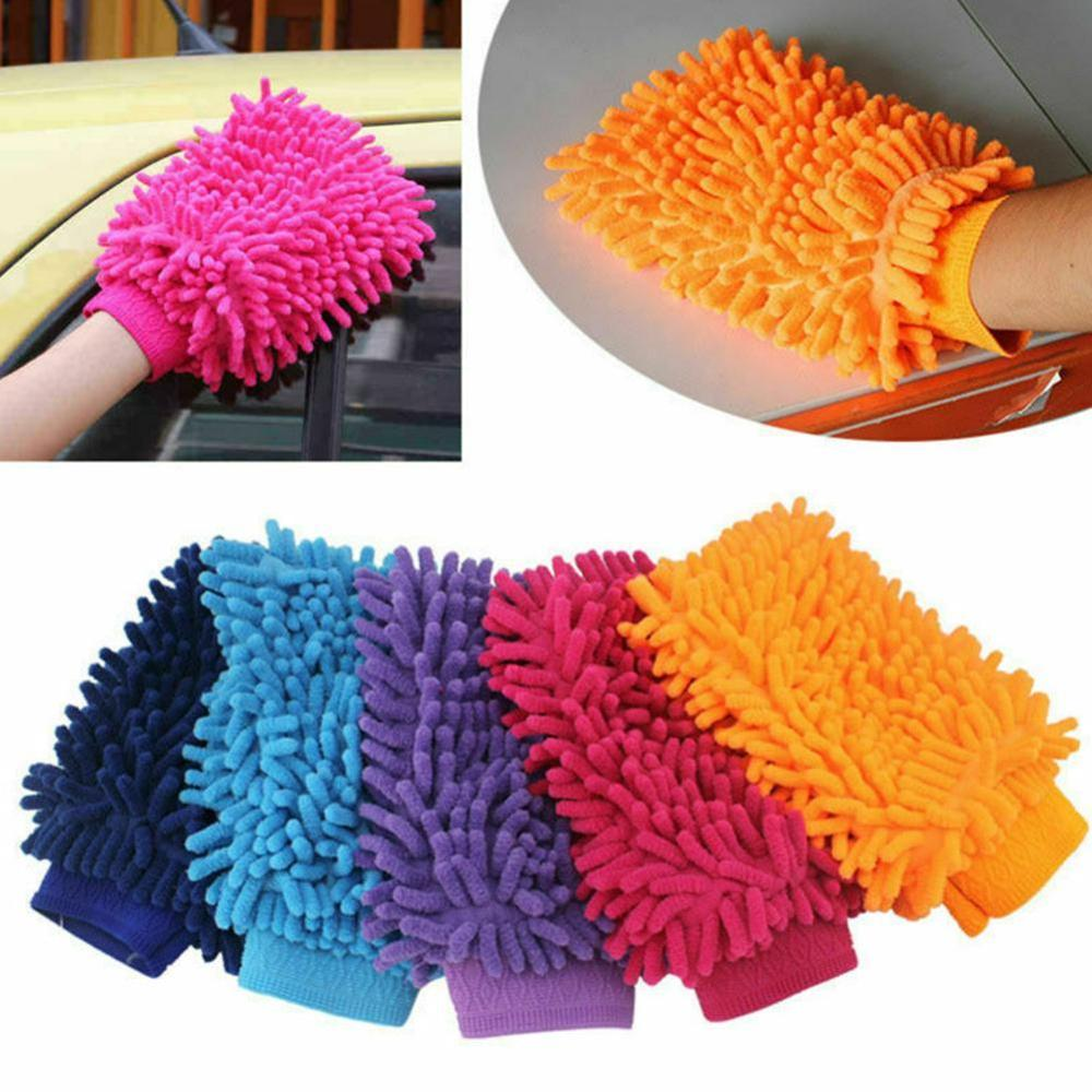 Car Styling 15*22cm Automotive Car Cleaning Car Brush Cleaner Wool Soft Car Washing Gloves Cleaning Brush Motorcycle Washer Care