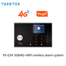 Tuya 433MHz 3G&4G WiFi Wireless Home Security&Burglar Alarm System With PIR Motion Sensor/Door Sensor/Siren Support Android&iOS(China)