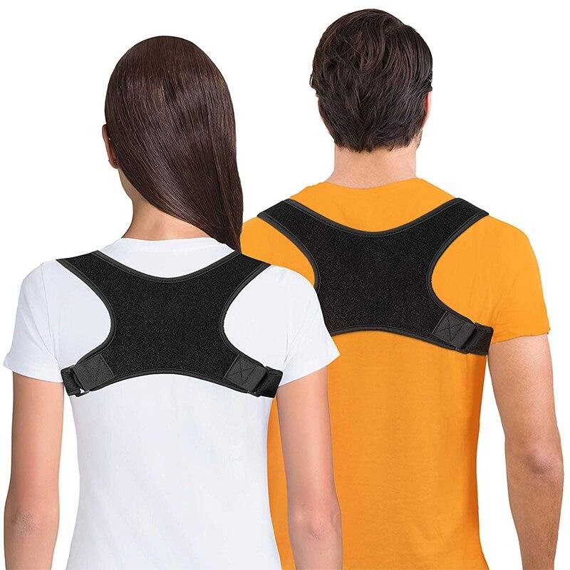Регулируемый Корректор осанки для спины и плеч для взрослых и детей, корсет для поддержки позвоночника и спины