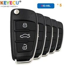 KEYECU 5 Pieces/ Lot, KEYDIY B Series B02 A6L Universal Remote Control Key   3 Btns   for KD900/ KD900+/ URG200 Key Programmer