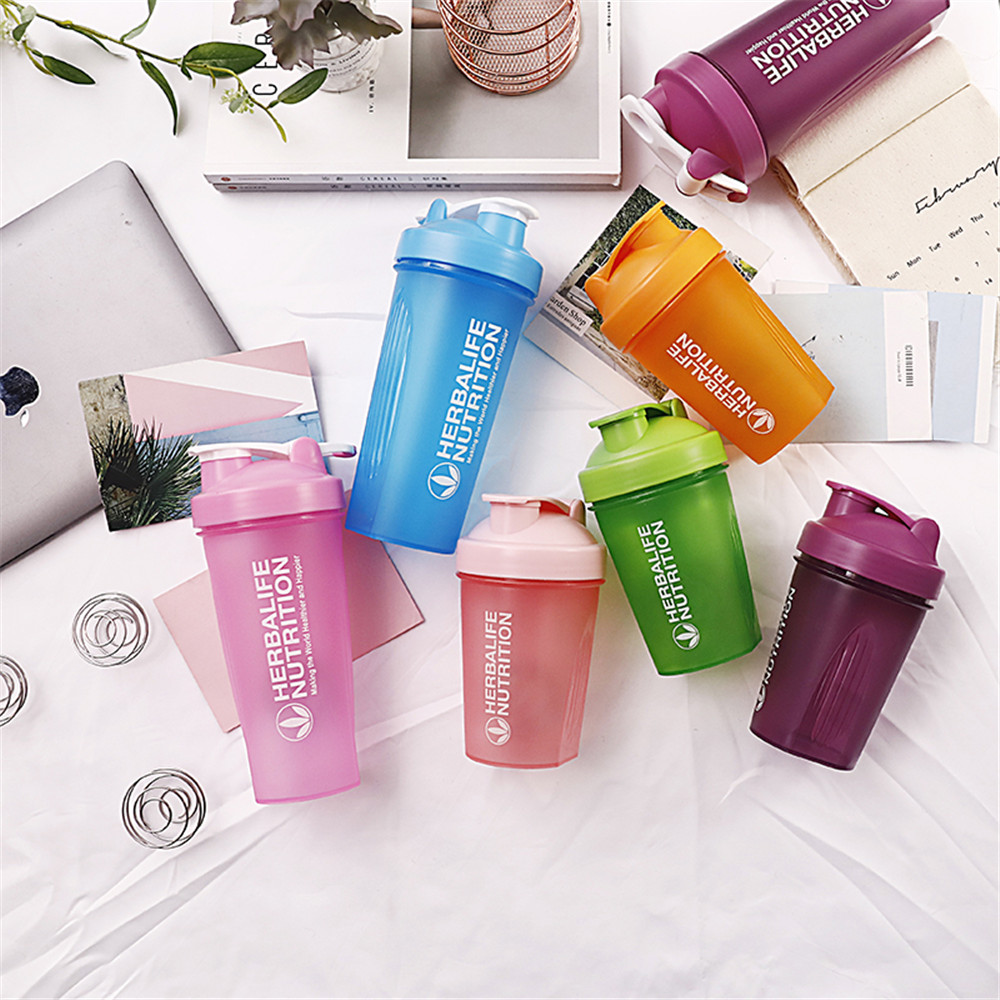 Sport Shaker Water Bottle Whey Protein Powder Mixing Bottle Portable Gym Fitness Kettle Outdoor Camping Climbing Bottle 400ML image