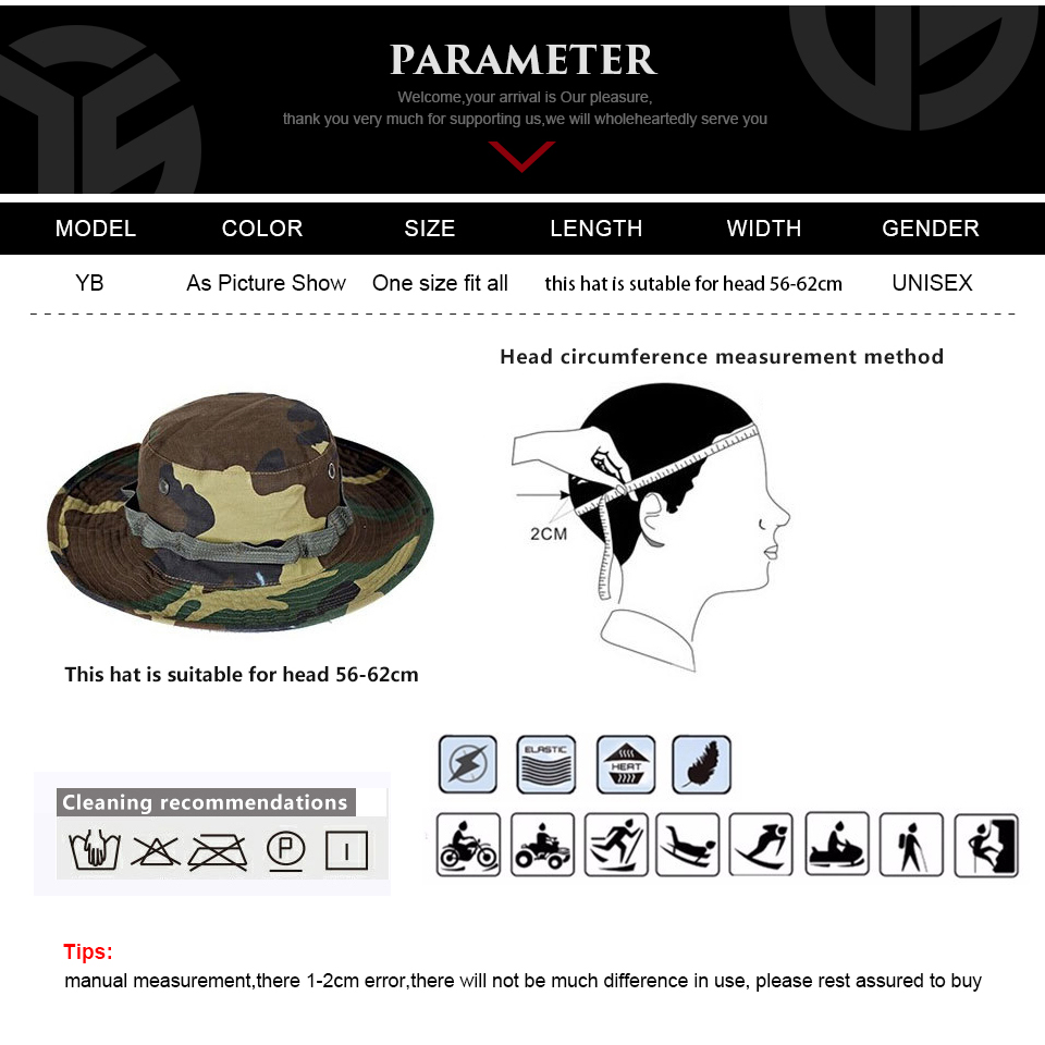 Multicam Tactical Airsoft Sniper Camouflage Bucket Boonie Hats Nepalese Cap SWAT Army Panama Military Accessories Summer Men 5