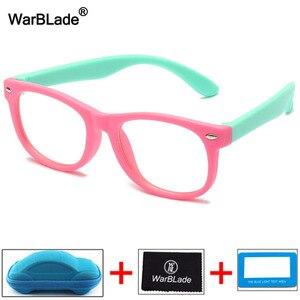 WarBLade детский анти-синий светильник, блокирующие очки, Детская оптическая оправа, очки для мальчиков и девочек, компьютерные прозрачные очки...