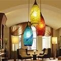 Стеклянный Абажур В богемном стиле  средиземноморский коридор  подвесной светильник для спальни  столовой  deco chambre