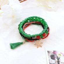 2019 Hot Fashion Christmas Gift Jewelry Bracelet Bangle Multilayer Ethnic Style Handmade Weaving Beaded for Women