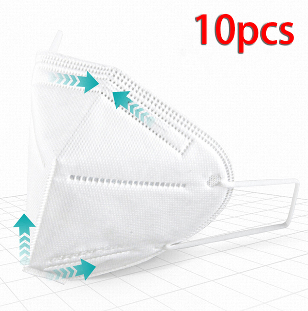 10Pcs Mouth Mask Protection Covers Windproof Dustproof Anti-fog Haze Pollution Mouth-muffle Anti-Viruses Bacteria Proof Flu Mask