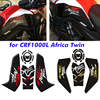 Motorcycle 3D Carbon Fiber Fuel Tank Pad for CRF1000L sticker Protective Decals Honda Africa Twin CRF1000 L 2016-2019