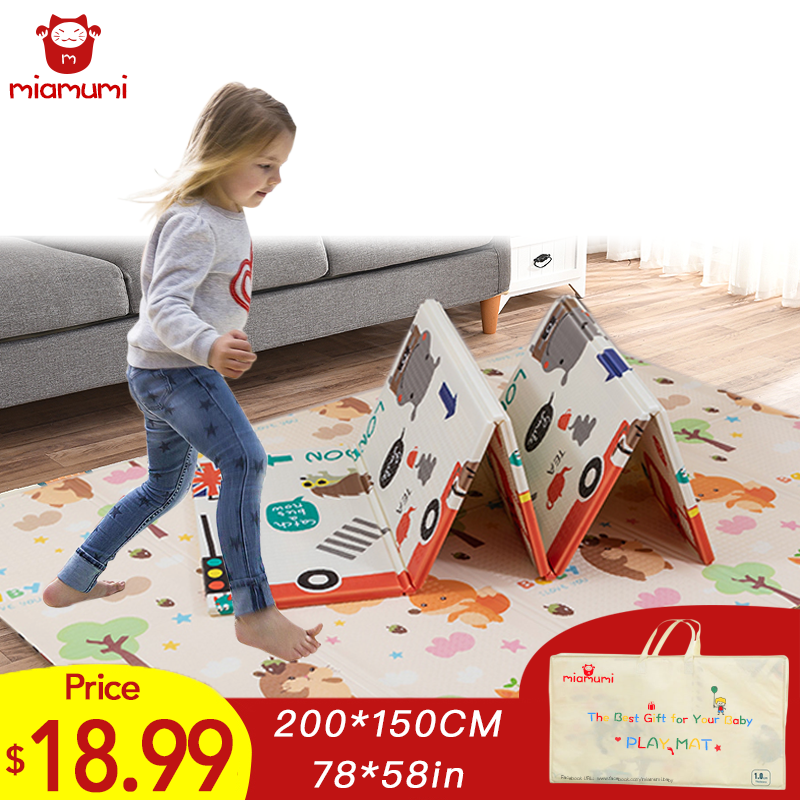 Miamumi Folding XPE Floor Mat For Kids Baby Crawling Mat Children's Play Mat Baby Mat Baking Pad Sleeping Baby Foam Puzzle Mat