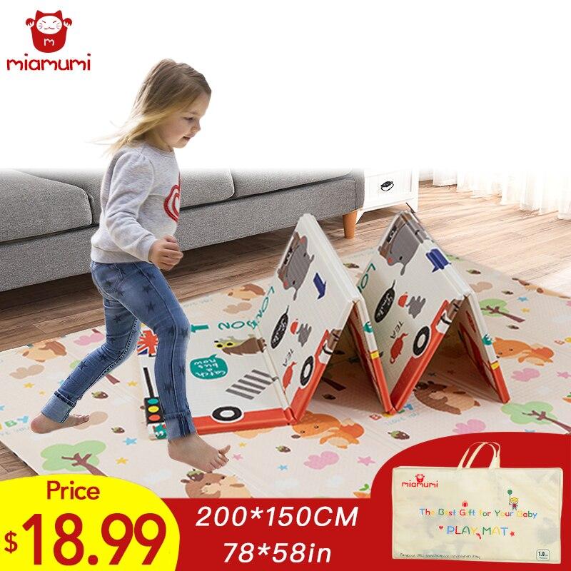 Miamumi Folding XPE Floor Mat For Kids Baby Crawling Mat Children's Play Mat Baby Mat Baking Pad Sleeping Baby Foam Puzzle Mat