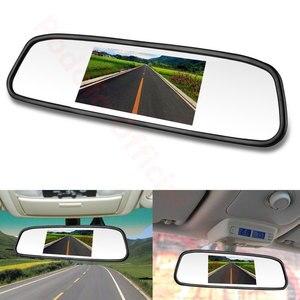 """Image 3 - Авто зеркало заднего вида Podofo, автомобильное зеркало с монитором 4.3"""", системой автопарковки, светодиодной подсветкой и ночным видением, с CCD камерой заднего вида"""