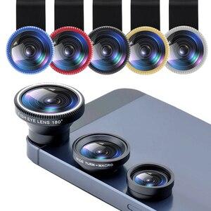 Phone Lens Fisheye Lens 0.67x Wide Angle Fisheye Lens 10x Macro Lens Kit For Iphone Samsung Smartphones Camera Lens