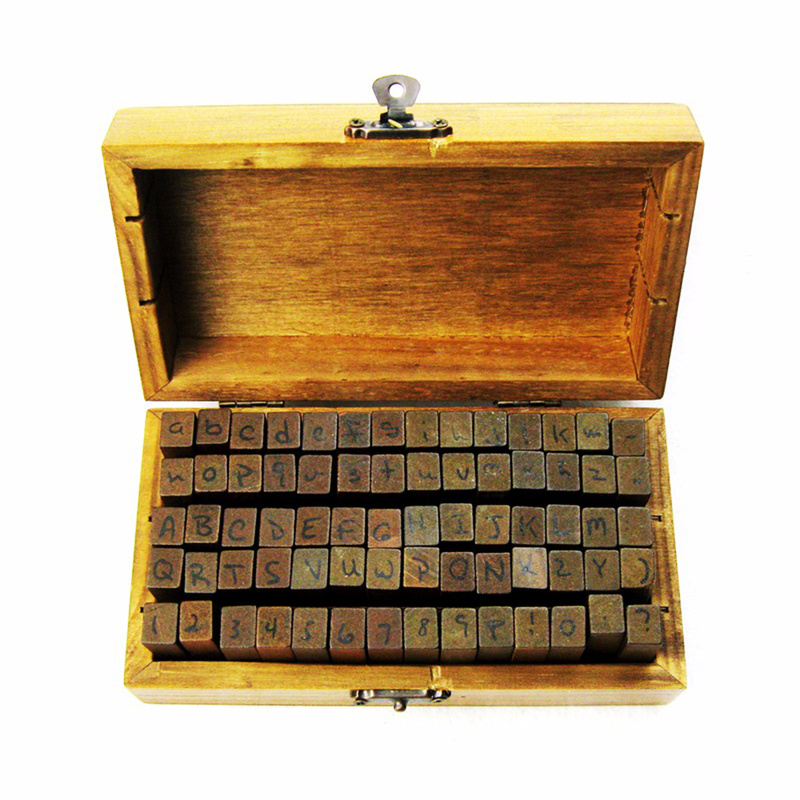 Ultimate SaleLetter Stamp Seal-Set Alphabet Cursive Wooden Standardized-Stamps Digital Anglais New