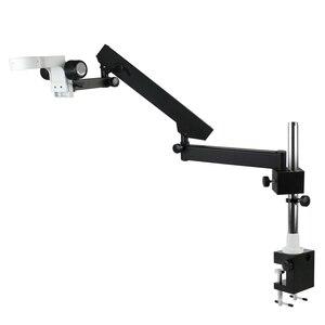 Image 3 - Support pour Microscope trinoculaire, pilier articulé de 76mm, bras réglable, Zoom stéréo, accessoires pour Microscope trinoculaire
