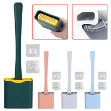 Toilet-Brush Water-Leak-Proof Wc Silicone with Base Flat-Head Flexible Soft Holder-Set