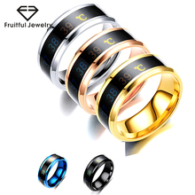 Fruitful Stainless Steel Discolour With Temperature Change Rings For Men And Women Black Blue Gold Charm Finger Rings Chic Gift chic flower shape and hollow out embellished black and blue sunglasses for women
