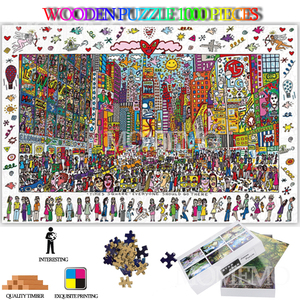 Times Square Wooden Jigsaw Puz