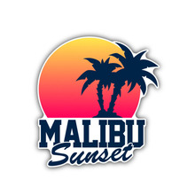 Car Sticker Personality Malibu Sunset Accessories Decal Cover Scratches Waterproof  Fashion PVC,11cm*12cm