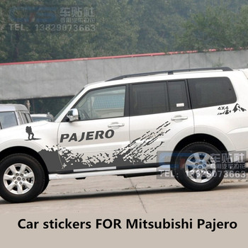 Car Sticker FOR Mitsubishi Pajero V93 V97 V73 Door Body Exterior Decoration Modified Sticker Pajero Sport Off-Road Sticker
