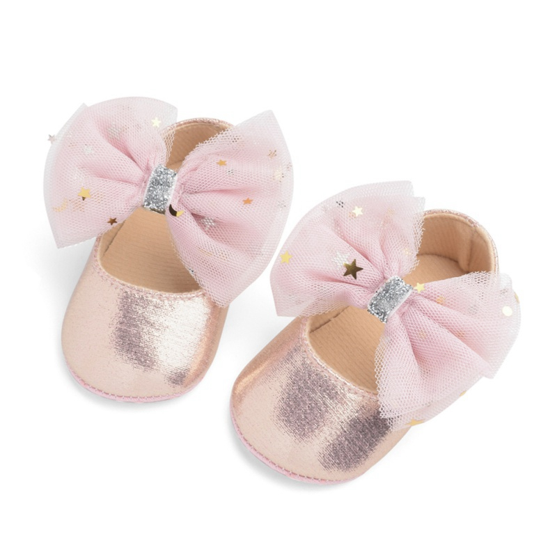 Infant Baby Girl Shoes Newborn Girls Bowknot Princess Shoes Leather Prewalkers Soft Anti-slip Warm Infant Shoes