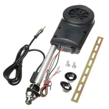 1 juego Antena eléctrica para Auto Antena aérea para coche, amplificador automático, SUV, potencia eléctrica 12V FM/AM, herramienta de Antena retráctil