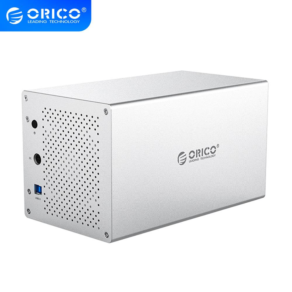 "ORICO WS Series 4 Bay 3.5"" SATA to USB3.0 HDD Enclosure 5Gbps 40TB 12V Power Adapter hdd Case Aluminum HDD Docking Station"