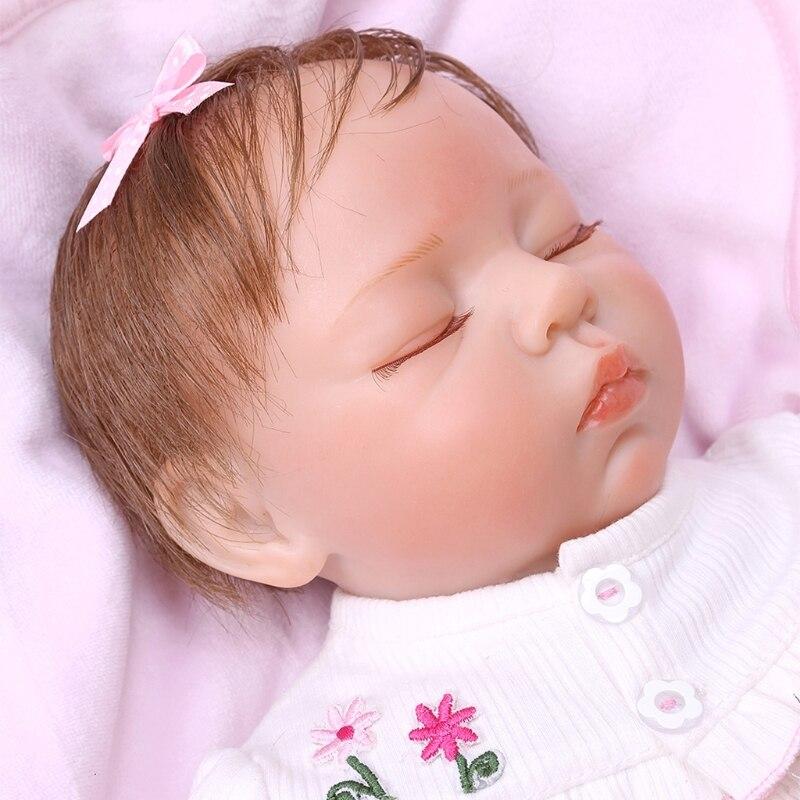 49cm Reborn Puppe Realistische Volle Geschlossenen Augen Weichen Silikon Vinyl Neugeborenen Schlaf Babys Affe Spielzeug Kleidung Lebensechte Puppen Geschenk
