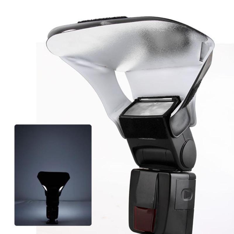 Tüketici Elektroniği'ten Reflektör'de 3 in 1 flaş ışığı difüzör fedai kiti ile 3 renkler gümüş altın beyaz reflektör dijital kameralar Speedlite Speedlight title=