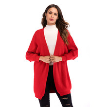 Bat Sleeve Sweater Womens Long Europe 2019 New Loose Lazy Wind Knit Cardigan Jacket