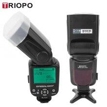 TRIOPO TR 950 profesyonel flaş ışığı kamera harici Speedlite deklanşör senkronizasyon fonksiyonu Canon Nikon için