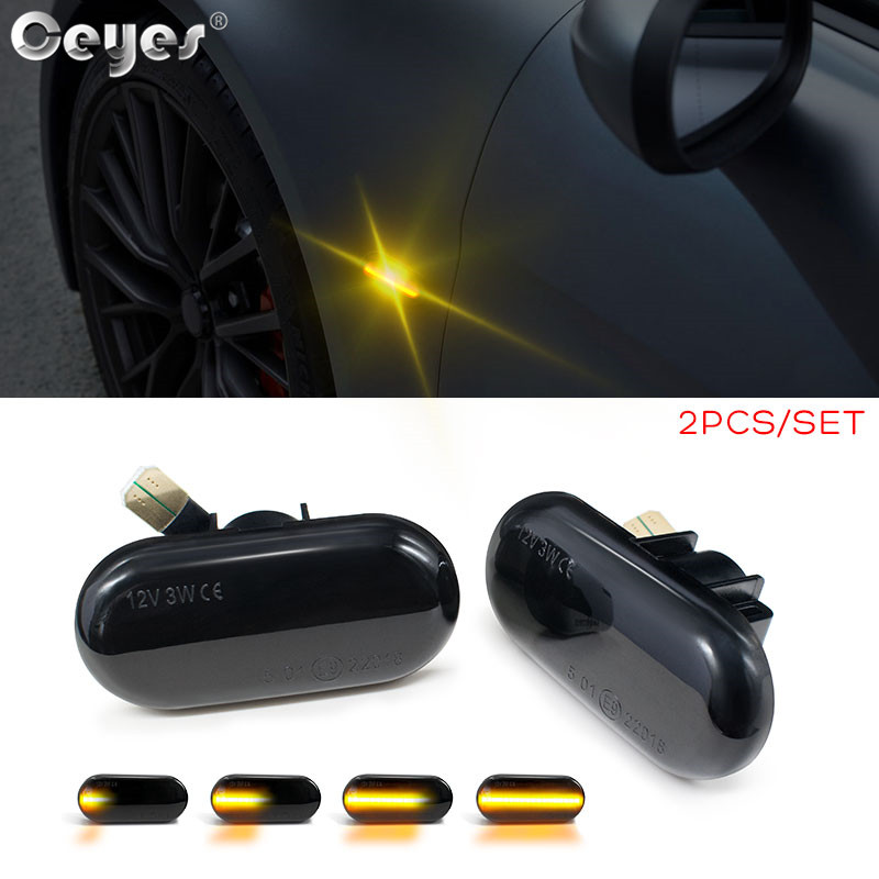 Ceyes 2pcs Car Lamp Led Dynamic Side Marker Turn Signal Light For Renault Megane Clio Opel Dacia For Mercedes Nissan Accessories